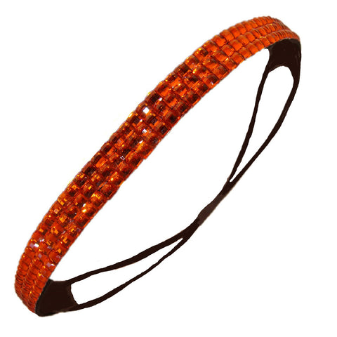 1 Rhinestone Headband Orange