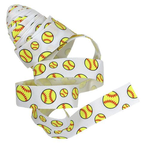 Softball Ribbon 5 Yards to use for Ponytail Holders Streamers on Your Bag to Show Spirit or Crafts