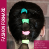 Seamless Hair Elastics Bands Hair Ties Ponytail Holders Scrunchies Accessories No Crease Damage for Thick Hair