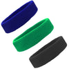 Sweatbands Terry Cotton Sports Headband Sweat Absorbing Head Band Green Blue Black 3