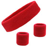Sweatband Sets Terry Cotton Headband and 2 Wristbands Pack You Pick Colors & Quantities