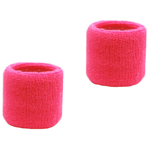 Sweatband for Wrist Terry Cotton Wristband Pink