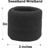Sweatband Set 1 Terry Cotton Headband and 2 Wristbands Pack Red