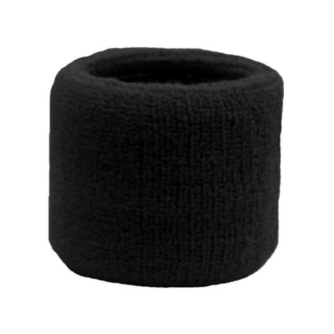 Sweatband for Wrist Terry Cotton Wristband Black