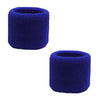 Sweatband for Wrist Terry Cotton Wristbands 2 Pack Blue