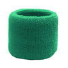 Sweatband for Wrist Terry Cotton Wristband Green