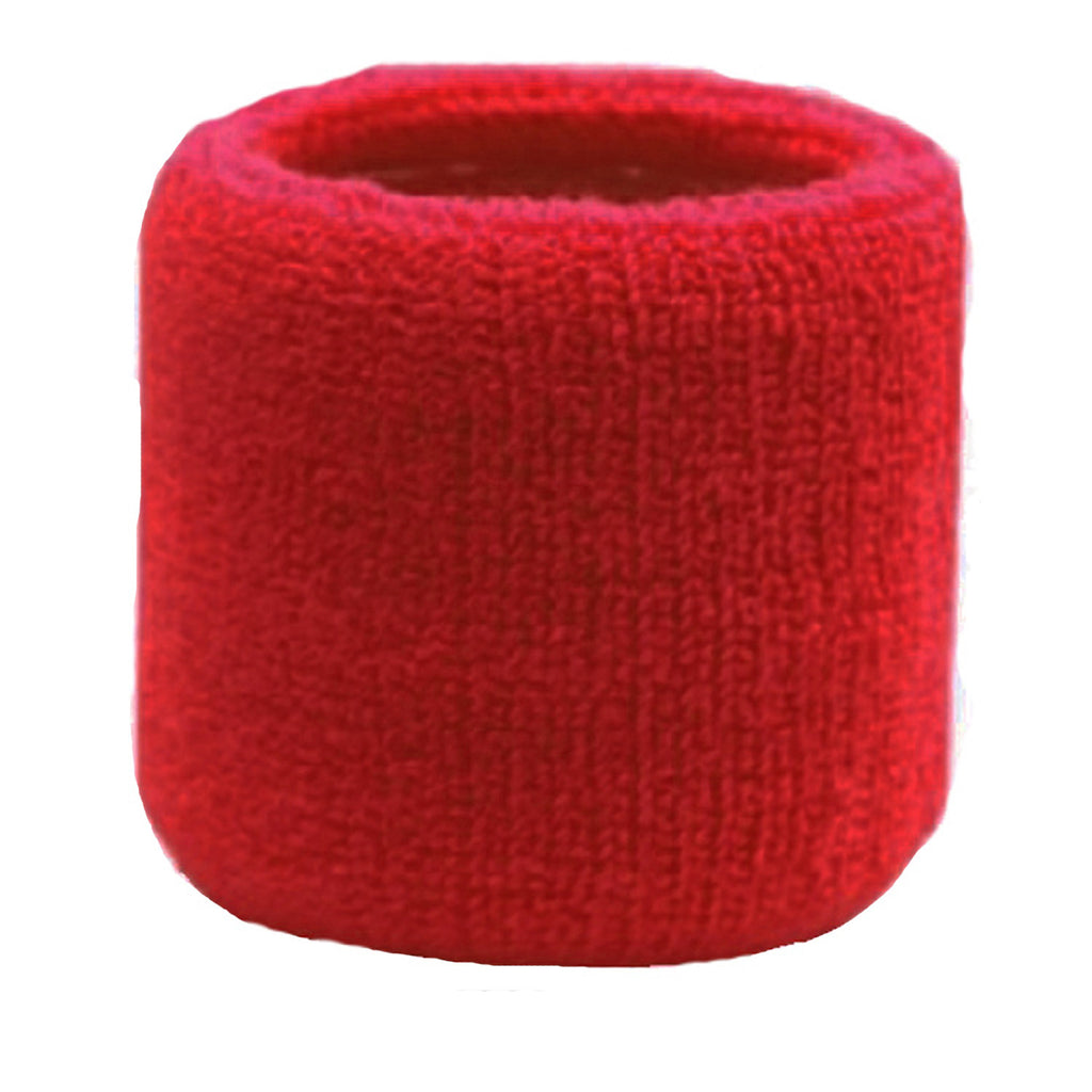 Sweatband for Wrist Terry Cotton Wristband Red