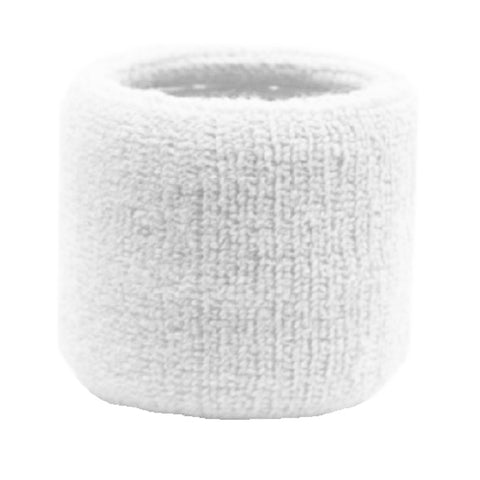 Sweatband for Wrist Terry Cotton Wristband White