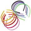10 Pack Satin Hard Headbands