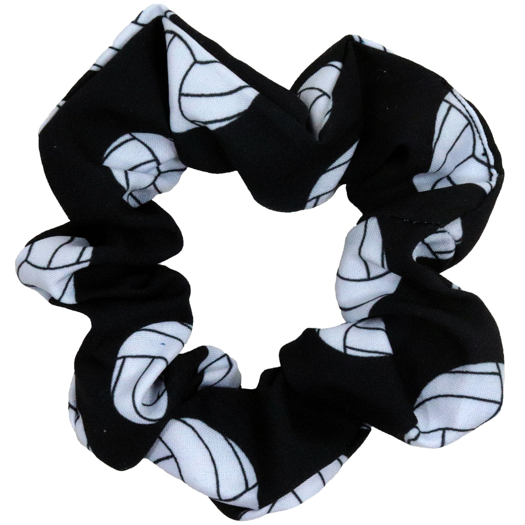 Volleyball Scrunchie Cotton Hair Ties Ponytail Holder Scrunchy Elastics