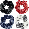 Bandana Scrunchies Ponytail Holder Hair Ties Scrunchy