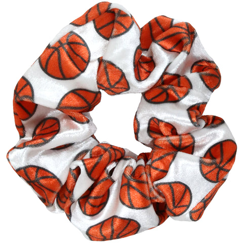 Basketball Scrunchies Velvet Sports Scrunchie Hair Ties Ponytail Holder Scrunchy Elastics