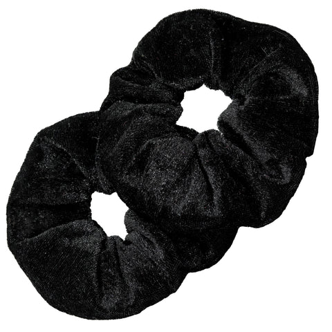 Velvet Scrunchies 2 Pack Black
