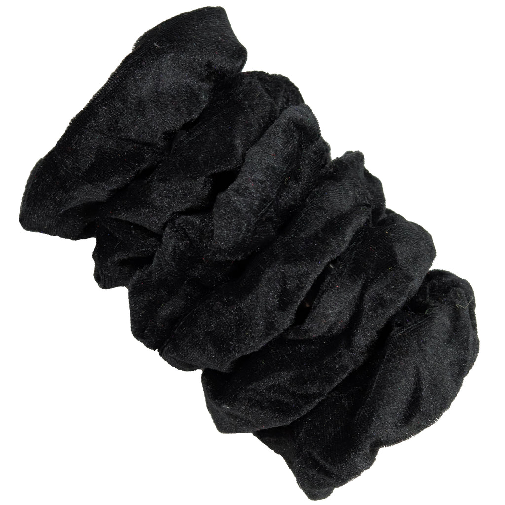 Velvet Scrunchies 6 Pack Black