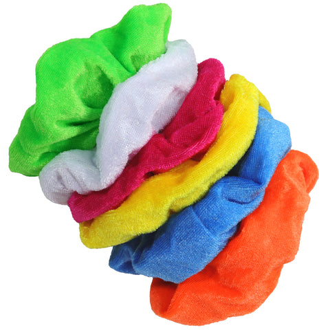 Velvet Scrunchies 6 Pack Brights
