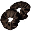 Velvet Scrunchies 2 Pack Brown