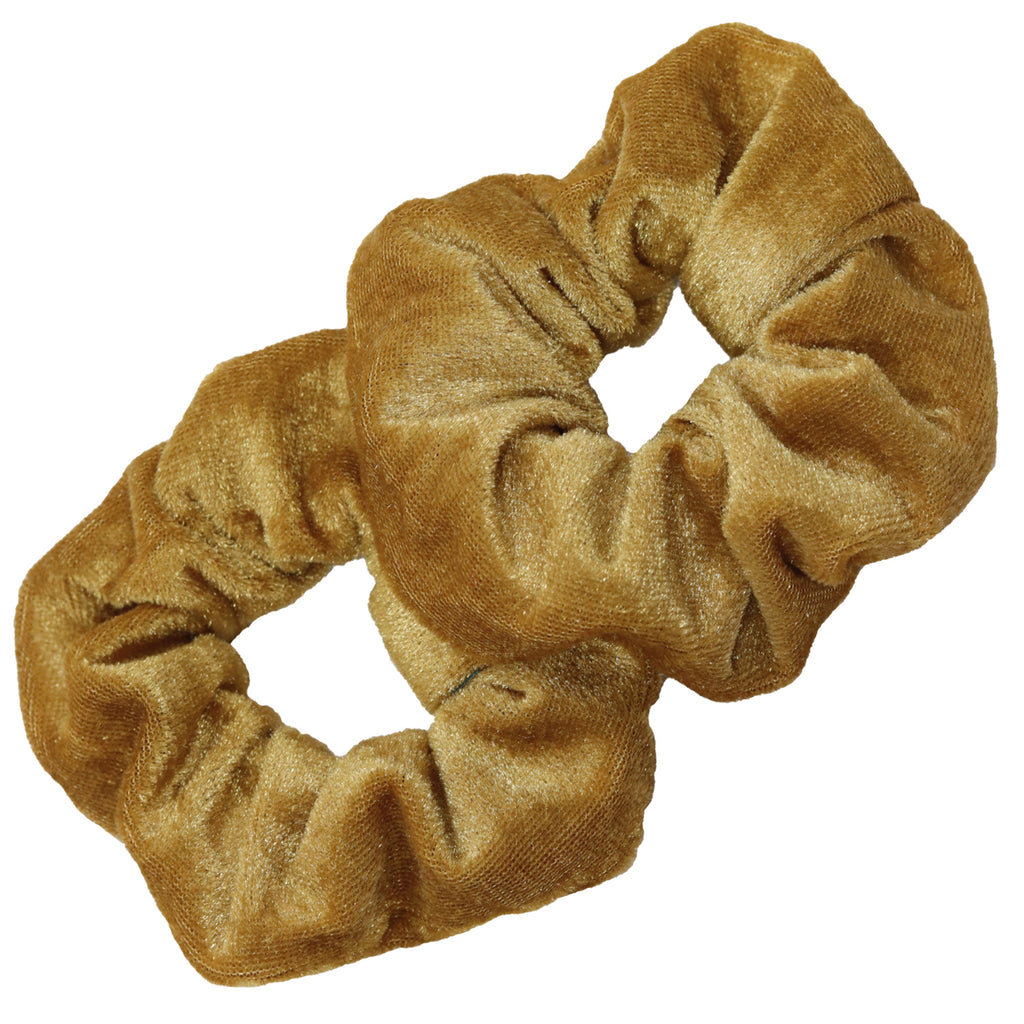 Velvet Scrunchies 2 Pack Gold