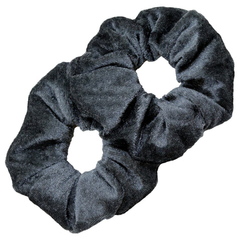 Velvet Scrunchies 2 Pack Gray