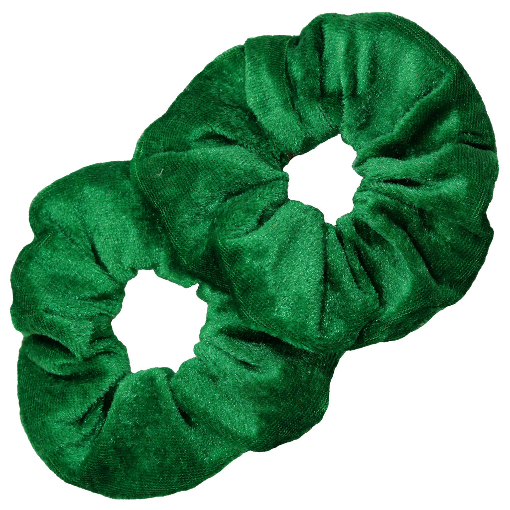 Velvet Scrunchies 2 Pack Green