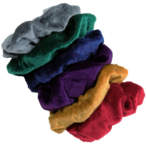 Velvet Scrunchies 6 Pack Jewel Tones