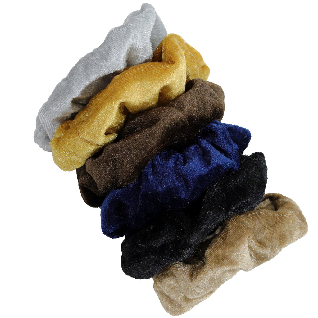 Velvet Scrunchies 6 Pack Neutrals