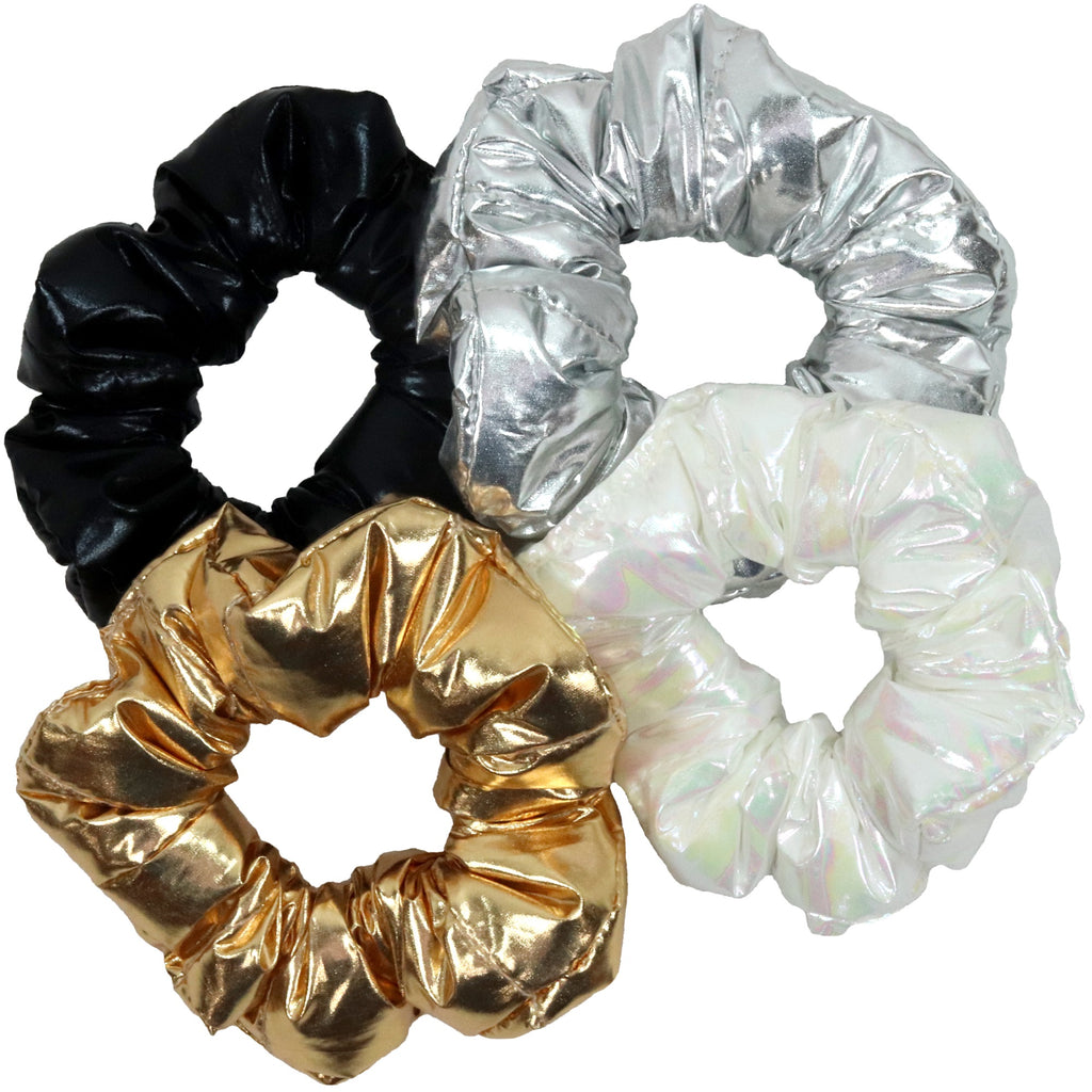 Puffer Metallic Bubble Scrunchies Ponytail Holder Hair Ties Scrunchy Scrunchie for Women