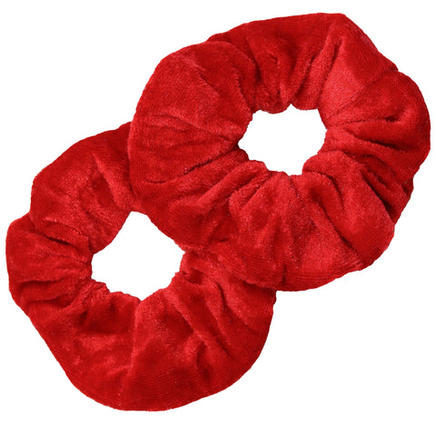 Velvet Scrunchies 2 Pack Red