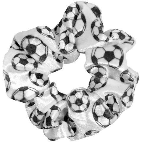 Soccer Scrunchies Velvet Sports Scrunchie Hair Ties Ponytail Holder Scrunchy Elastics