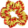 Softball Scrunchies Velvet Sports Scrunchie Hair Ties Ponytail Holder Scrunchy Elastics