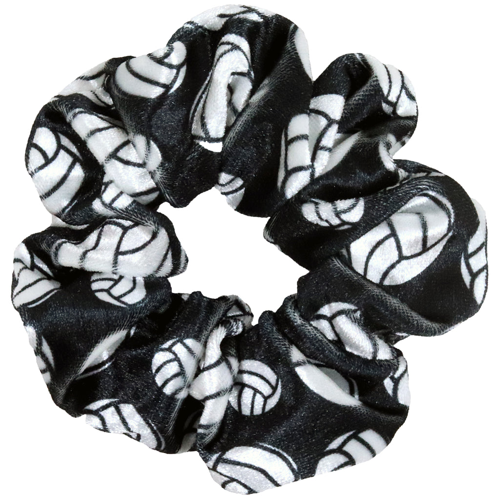 Volleyball Scrunchies Velvet Sports Scrunchie Hair Ties Ponytail Holder Scrunchy Elastics