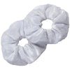 Velvet Scrunchies 2 Pack White