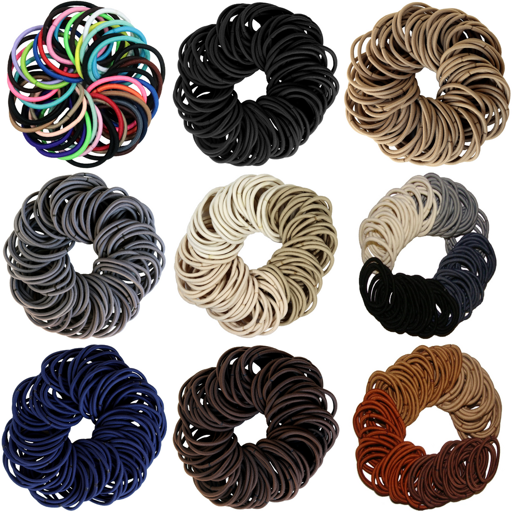 100 Pack Hair Elastics You Pick Colors and Quantities
