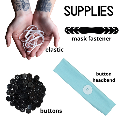Mask Supplies Fasteners Buttons Filter Button Ear Saver Cotton Headband Soft Stretch For Nurses Healthcare Workers You Pick Colors and Quantities