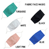 Black Face Mask With Carbon Filter Pocket Washable Reusable Fabric Cloth Material Adjustable Straps