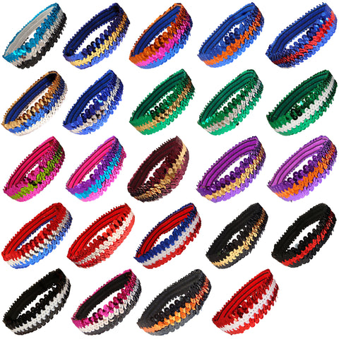 Sequin Headbands 12 Girls Headbands Sparkly Hair Head Bands You Pick Colors