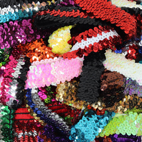 Sequin Headbands 12 Girls Headband Sparkly Hair Head Bands Grab Bag Stripes