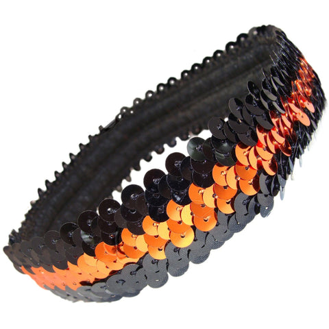 Sequin Headband Girls Headbands Sparkly Hair Head Bands Black Orange