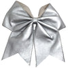 Leather Cheer Bow for Girls Large Hair Bows with Ponytail Holder