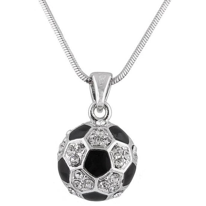 Soccer Necklace Rhinestone LARGE