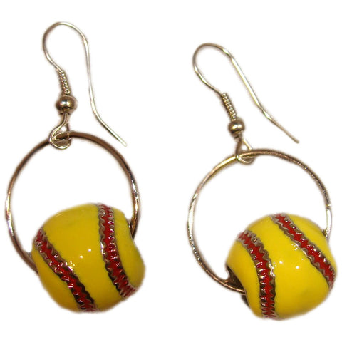 Softball Earrings Dangle Hook Enamel Jewelry Softball Gifts for Girls Coach Team