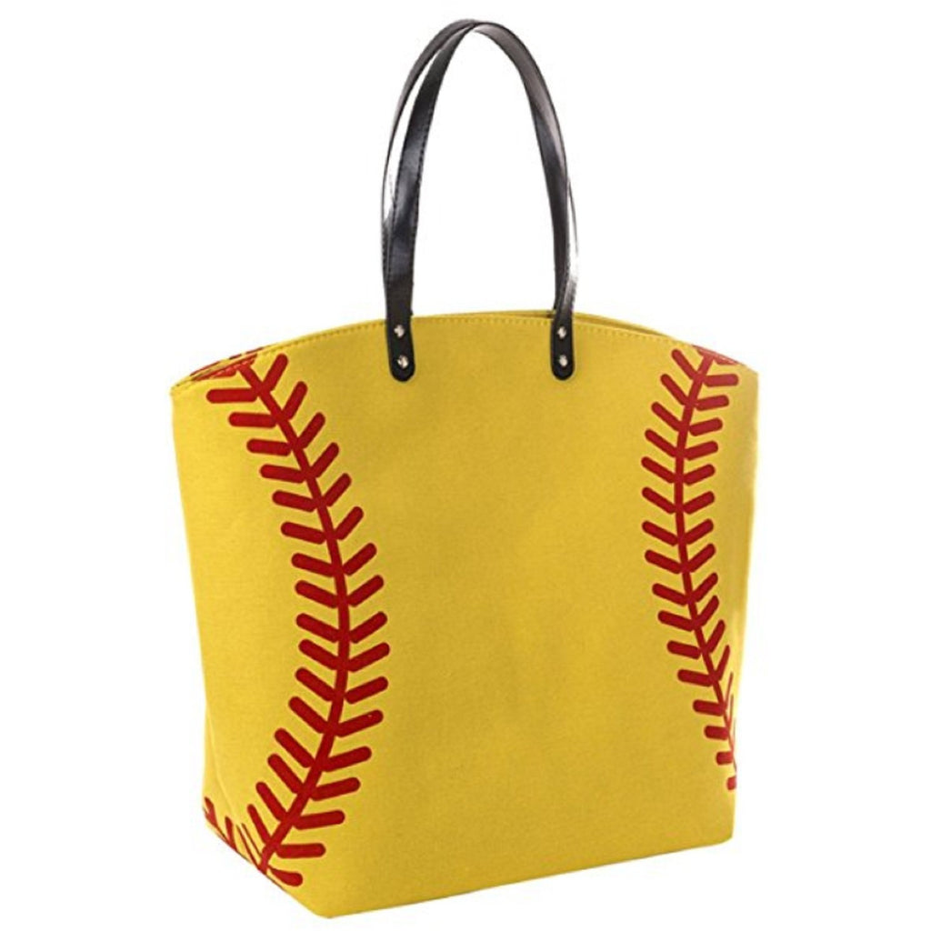Softball Tote Sports Bags Canvas Softball Gifts for Girls Mom Coach Team Players