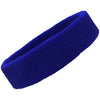 Thin Light Weight Sweatband Terry Cotton Sports Headband Sweat Absorbing Head Band Blue