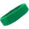Sweatband Terry Cotton Sports Headband Sweat Absorbing Head Band Green