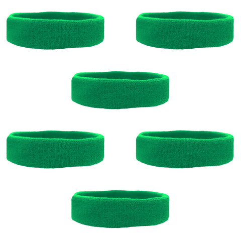 Sweatbands Terry Cotton Sports Headband Sweat Absorbing Head Band Green 6