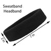 Sweatbands Terry Cotton Sports Headband Sweat Absorbing Head Band Black White Gray 3