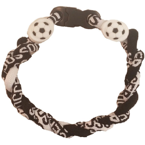 Soccer Bracelet Titanium Braided Sports Power Wristlet
