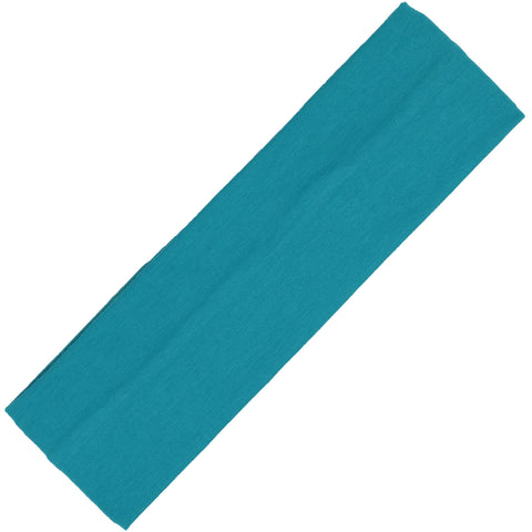 Cotton Headband Soft Stretch Headbands Sweat Absorbent Elastic Head Band Teal