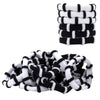 100 Hair Elastics Seamless Hair Elastic Bands Hair Ties Ponytail Holders Scrunchies Accessories No Crease Damage for Thick Hair