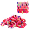 Hair Ties Seamless Terry Elastics 100 Pack You Pick Colors and Quantities
