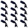 Tie Back Headbands 12 Moisture Wicking Athletic Sports Head Band Navy